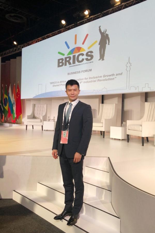 网龙副总裁莫俊琦在南非首都约翰内斯堡参加金砖国家领导人第十次会晤