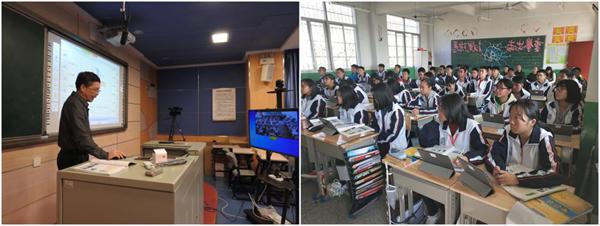 厦门二中马兆春老师为新桥中学的同学们精心准备了化学课
