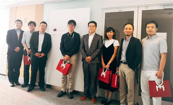 索尼计算机研究中心CACL负责人磯崎隆司接待了金洋娱乐华渔教育一行,该中心是索尼集团研发AI人工智能的核心机构